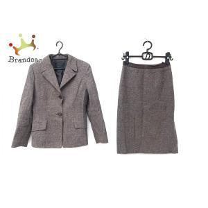 アンタイトル UNTITLED スカートスーツ サイズ9 M レディース 美品 ブラウン×アイボリー   スペシャル特価 20200722 brandear