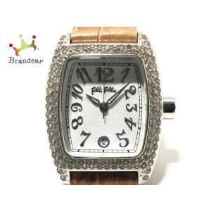 フォリフォリ FolliFollie 腕時計 - S922ZI レディース ラインストーンベゼル シ...