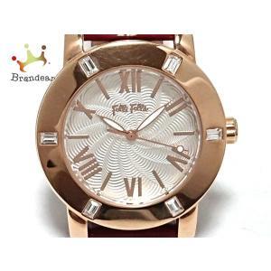フォリフォリ FolliFollie 腕時計 - WF1B005SP レディース 革ベルト シルバー...
