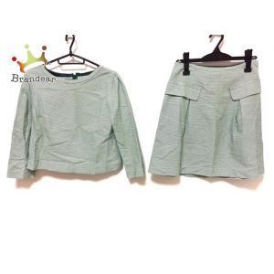アンタイトル UNTITLED スカートセットアップ サイズ2 M レディース - グリーン×白   スペシャル特価 20200807 brandear