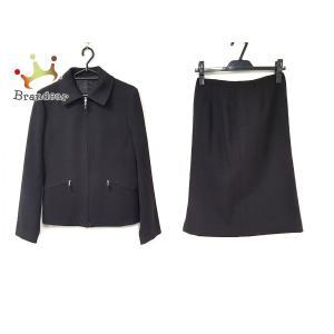 アンタイトル UNTITLED スカートスーツ サイズ9 M レディース 美品 黒 ジップアップ   スペシャル特価 20200826 brandear