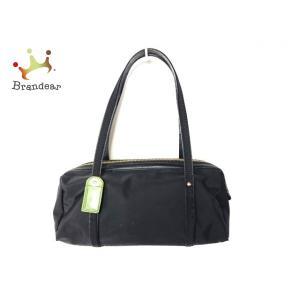ケイトスペード Kate spade ハンドバッグ - 黒×グリーン レザー×ナイロン   スペシャル特価 20200914|brandear