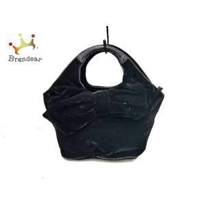ケイトスペード Kate spade ハンドバッグ PXRU3014 黒 リボン ベロア×エナメル(レザー)   スペシャル特価 20200923|brandear