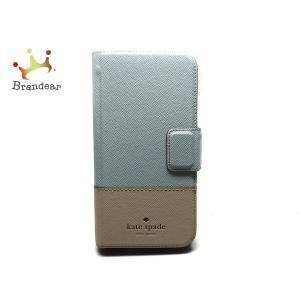 ケイトスペード Kate spade 携帯電話ケース - ライトブルー×ライトピンク iPhoneケース レザー   スペシャル特価 20200907|brandear