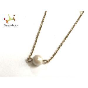ケイトスペード ネックレス 美品 - 金属素材×フェイクパール×ラインストーン フラワー(花)   スペシャル特価 20200831|brandear