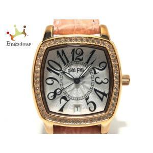 フォリフォリ FolliFollie 腕時計 - WF14B020SD レディース ラインストーンベ...
