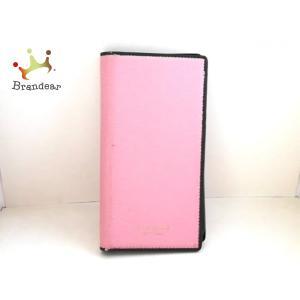 ケイトスペード Kate spade 携帯電話ケース ピンク×黒 iPhoneケース レザー×プラスチック   スペシャル特価 20200916|brandear