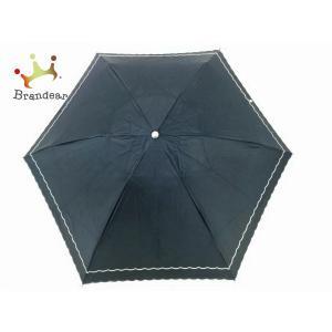 ポロラルフローレン 折りたたみ傘 美品 ネイビー×アイボリー ナイロン×金属素材   スペシャル特価 20200923|brandear