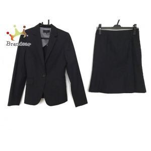 アンタイトル UNTITLED スカートスーツ レディース ダークネイビー ストライプ   スペシャル特価 20200902 brandear