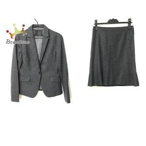 アンタイトル UNTITLED スカートスーツ サイズ3 L レディース 美品 ダークグレー   スペシャル特価 20200928 brandear