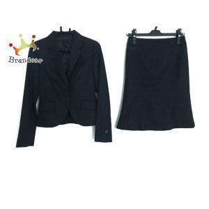 アンタイトル スカートスーツ サイズ0 XS レディース ネイビー×黒 パンツセット/ストライプ   スペシャル特価 20200920 brandear