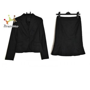 アンタイトル UNTITLED スカートスーツ レディース 黒×ダークグレー パンツセット/ストライプ   スペシャル特価 20200923 brandear