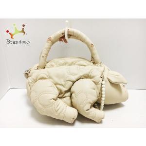 アンテプリマ ANTEPRIMA ハンドバッグ - アイボリー×パールホワイト 合皮×フェイクパール   スペシャル特価 20200923 brandear