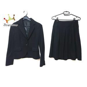 アンタイトル UNTITLED スカートスーツ レディース 黒   スペシャル特価 20200908 brandear