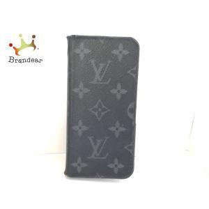 ルイヴィトン 携帯電話ケース モノグラムエクリプス(キャンバス) IPHONE X・フォリオ M63446   スペシャル特価 20200823 brandear