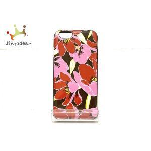 ケイトスペード 携帯電話ケース ブラウン×ピンク×マルチ iphoneケース/花柄 プラスチック   スペシャル特価 20200925|brandear