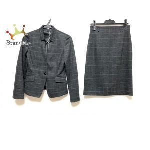 ナラカミーチェ スカートスーツ サイズ0 XS レディース 美品 ダークグレー×ライトグレー   スペシャル特価 20200923 brandear