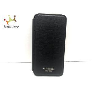 ケイトスペード Kate spade 携帯電話ケース 黒 iPhoneケース/手帳型 レザー  値下げ 20200923|brandear