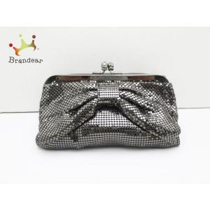 アンテプリマ ANTEPRIMA ポーチ 美品 - シルバー がま口/リボン 金属素材×ベロア 新着 20200709 brandear