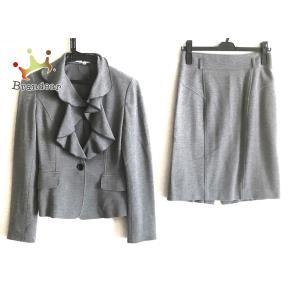 ナラカミーチェ NARACAMICIE スカートスーツ サイズ0 XS レディース 美品 - グレー フリル   スペシャル特価 20200924 brandear