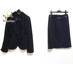 ナラカミーチェ NARACAMICIE スカートスーツ サイズ1 S レディース 美品 黒 ベルト付き  値下げ 20200917 brandear