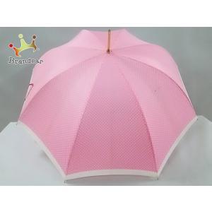 ラルフローレン RalphLauren 傘 L ピンク×白 ドット柄 化学繊維  値下げ 20200914|brandear