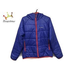 モンベル ダウンジャケット サイズS レディース 美品 ブルー×オレンジ 冬物/リバーシブル  値下...