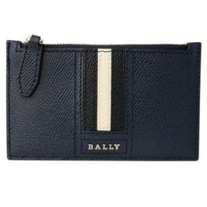 d1213bd09ea0 バリー BALLY コインケース 6221812 TENLEY LT17 カードホルダー付き BALLY STRIPE バリーストライプ NEW  BLUE ダークネイビー