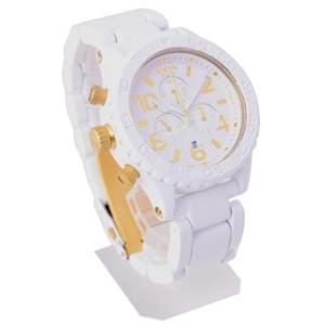 半額以下  ニクソン NIXON 時計 42-20 フォーティーツートゥエンティ A037-1035 クロノグラフ  メンズ オールホワイト  男女兼用腕時計|brandechoice