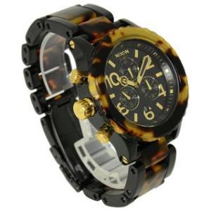 ニクソン NIXON 時計 42-20 フォーティーツー トゥエンティ A037-679 クロノグラフ メンズ オール ブラック トートイズ 男女兼用腕時計 brandechoice
