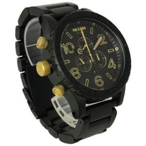ニクソン NIXON 時計 51-30 フィフティーワン サーティ A083-1041 クロノグラフ メンズ マットブラック ゴールド 男女兼用腕時計|brandechoice