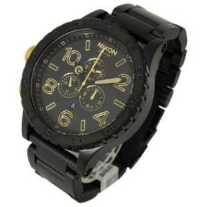 ニクソン NIXON 時計 51-30 フィフティーワン サーティ A083-1041 クロノグラフ メンズ マットブラック ゴールド 男女兼用腕時計|brandechoice|02