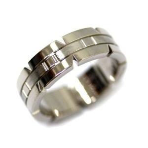 新品仕上げ済み カルティエ タンク フランセーヌ リング・指輪 ユニセックス K18ホワイトゴールド ジュエリー 11号 ホワイトゴールド 中古 送料無料|brandeco