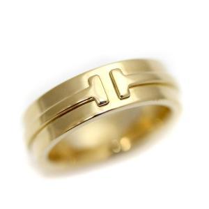新品仕上げ済み ティファニー T TWO リング・指輪 レディース K18イエローゴールド ジュエリー 6号 YG 中古 送料無料 brandeco