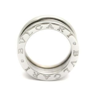 新品仕上げ済み ブルガリ B-zero1 ビーゼロワン リング・指輪 レディース K18ホワイトゴールド ジュエリー 7.5号 シルバー 中古 送料無料|brandeco