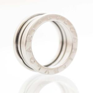 新品仕上げ済み ブルガリ Sサイズ B-ZERO1 ビーゼロワン リング・指輪 レディース K18ホワイトゴールド ジュエリー 8号 シルバー 中古 送料無料|brandeco