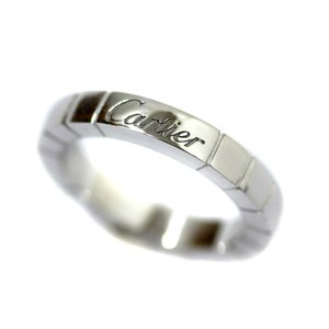 新品仕上げ済み カルティエ ラニエール リング・指輪 レディース K18ホワイトゴールド ジュエリー 6号 ホワイトゴールド 中古 送料無料|brandeco