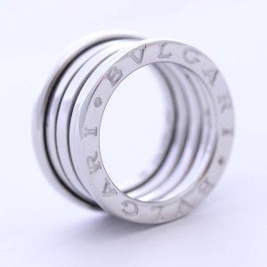 新品仕上げ済み ブルガリ Mサイズ B-ZERO1 ビーゼロワン リング・指輪 レディース K18ホワイトゴールド ジュエリー 7号 シルバー 中古 送料無料|brandeco