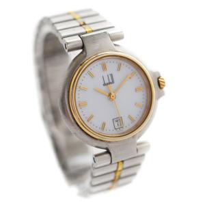 ダンヒル ミレニアム 腕時計 レディース クオーツ ホワイト文字盤 コンビカラー 中古 送料無料|brandeco