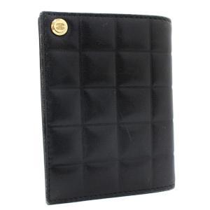 シャネル カードホルダー ココマーク チョコバー カードケース レディース レザー ブラック 中古 送料無料|brandeco