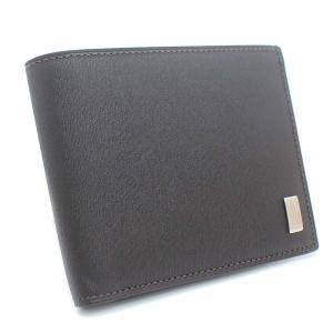 美品 ダンヒル サイドカー 二つ折り財布 メンズ レザー ダークブラウン FP3070E 中古 送料無料|brandeco