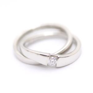 新品仕上げ済み ヨンドシー 2連 リング・指輪 レディース ダイヤモンド Pt950プラチナ ジュエリー 5号 シルバー 中古 送料無料|brandeco