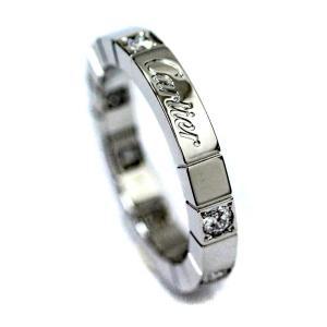 新品仕上げ済み カルティエ ラニエール リング・指輪 ユニセックス K18ホワイトゴールド ダイヤモンド ジュエリー 8号 ホワイトゴールド 中古 送料無料 brandeco