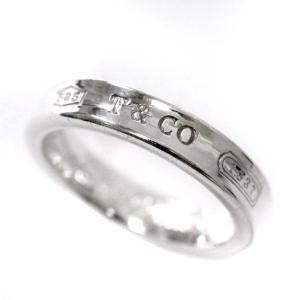 ティファニー ナローベーシック 1837 リング・指輪 ユニセックス シルバー925 アクセサリー 9号 シルバー 中古 brandeco