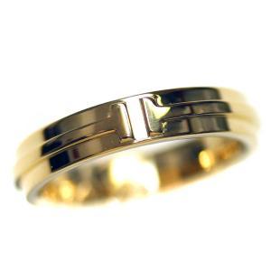 新品仕上げ済み ティファニー T TWO リング・指輪 ユニセックス K18イエローゴールド ジュエリー 19号 YG 中古 送料無料|brandeco