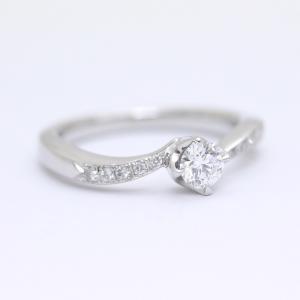 新品仕上げ済み ヨンドシー リング・指輪 レディース ダイヤモンド Pt950プラチナ ジュエリー 7号 シルバー 中古 送料無料|brandeco