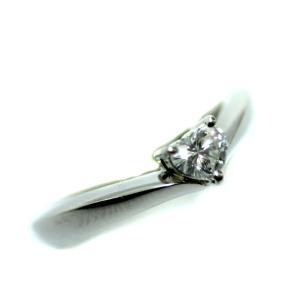 ヨンドシー ハート リング・指輪 レディース Pt950プラチナ ダイヤモンド ジュエリー 9号 プラチナ 中古 送料無料|brandeco