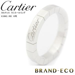 新品仕上げ済Cartier カルティエ ラニエールリング K18WG #50 10号中古|brandeco