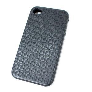 フェンディ スマホカバー iPhone4 その他小物 ユニセックス ラバー ブラック 中古 brandeco