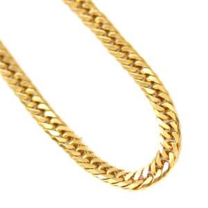 ノーブランド 喜平 6面 W ダブル ネックレス ユニセックス K18イエローゴールド ジュエリー ゴールド 中古 送料無料|brandeco